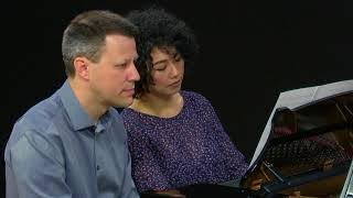 Chenyin Li and Iago Nunez play a Respighi piano duet