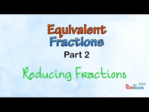 Equivalent Fractions (part 2): Reducing Fractions