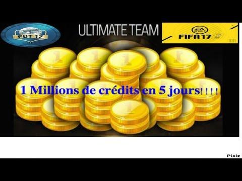 FUT 17 - JAI GAGNE 1MILLIONS DE CREDIT EN 5 JOURS !! COMMENT ?