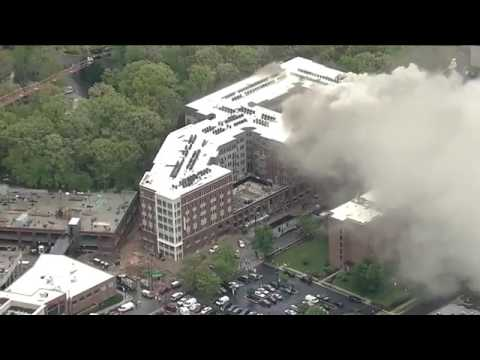 Massive fire at a high-rise apartment building in College Pa