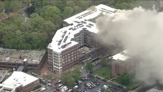 Massive fire at a high-rise apartment building in College Park, Maryland | firefighting