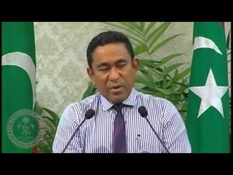 Address to the Nation by President Abdulla Yameen Abdul Gayoom
