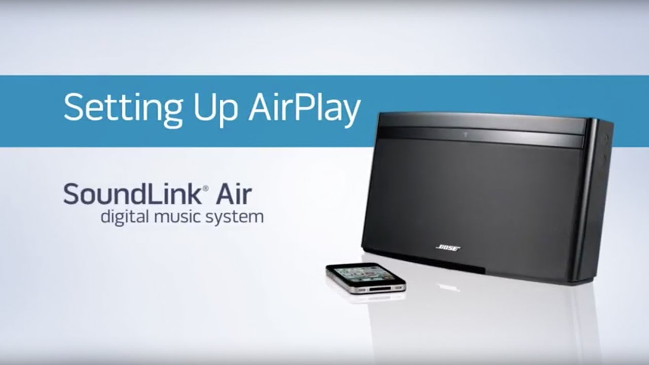 Bose SoundLink Air - Setting up AirPlay