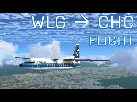 FSX Wellington to Christchurch | No Autopilot | New Zealand Air