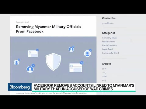Facebook Removes Accounts Linked to Myanmar's Military