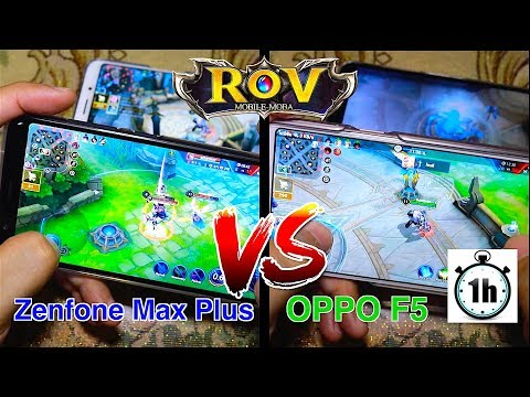 Asus Zenfone Max Plus VS OPPO F5 : Game Test ROV ใน 1 ชั่วโมง