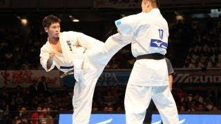 THE 10th WORLD KARATE CHAMPIONSHIP Men quarterfinals Yuji Shimamoto...