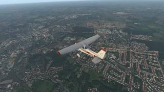 X-Plane 11 - Flying around Norwich with Ortho4XP at ZL18