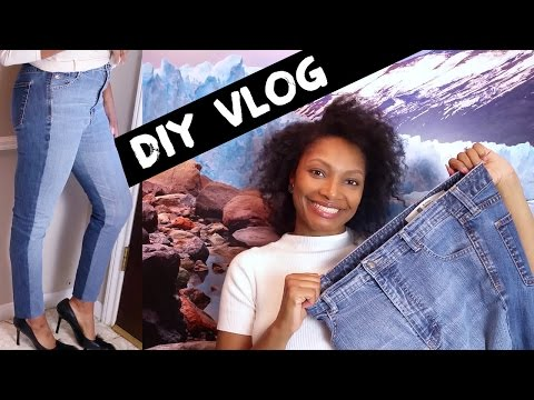 HOW TO MAKE TWO TONED JEANS   DIY UPCYCLE   BlueprintDIY