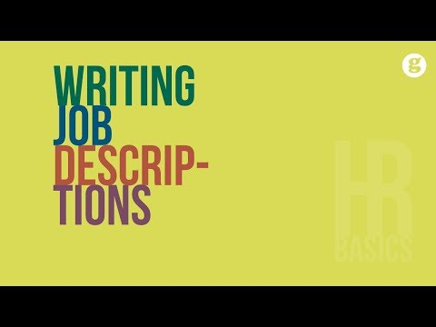 HR Basics: Writing Job Descriptions