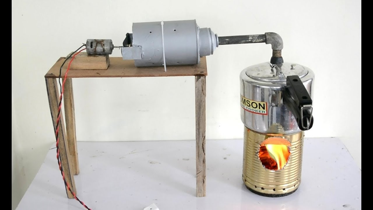 How to Make Steam Power Plant at Home - a Cool Science Project