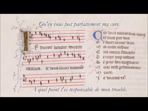 """""""Je Vivrais Ben Content"""" (""""Je Vivroie Liement"""", Version Québécoise) - Guillaume De Machaut"""