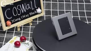Скачать Coswall 1 Gang 1 Way Luxury LED Light Switch