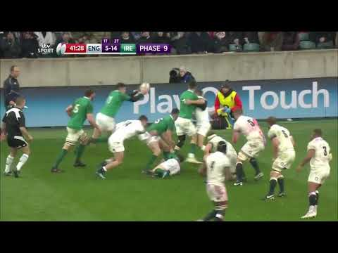 Ireland's Jacob Stockdale world class try against England on St Patrick Day. 17/03/18