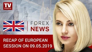 InstaForex tv news: 09.05.2019: Euro may break out of narrow range (EUR, USD, GBP)