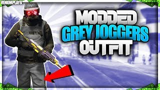 GTA 5 Grey Joggers TryHard Modded Outfit Using Clothing Glitches 1.46!