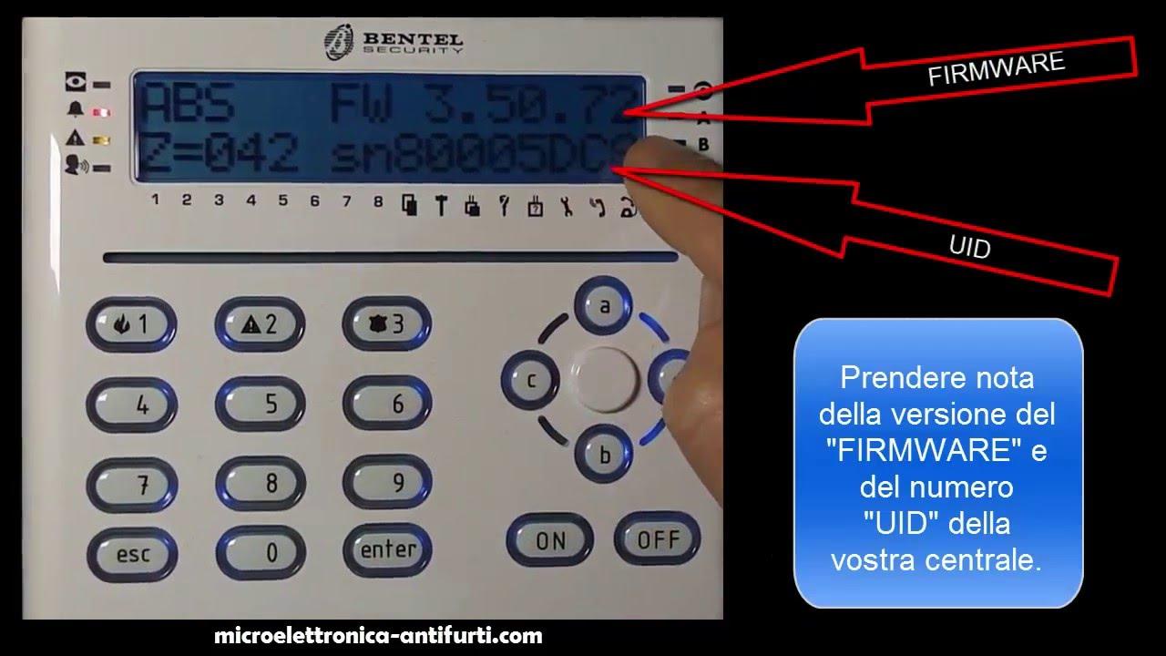 Leggere la versione Firmware e numero UID con Tastiera T-White