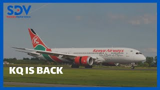 KQ flight from Nairobi touches down in Kisumu for the first time after Kenyan airspace was opened