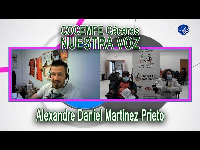 COCEMFE Nuestra Voz - Alexandre Daniel Martínez Prieto