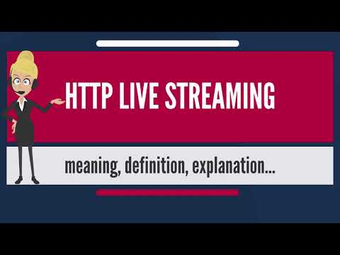 What Is HTTP LIVE STREAMING? What Does HTTP LIVE STREAMING Mean? HTTP LIVE STREAMING Meaning