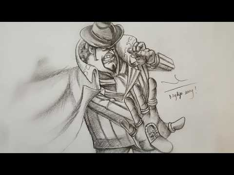 học-vẽ-bố-già-capone-gang-bege-(Đảo-hải-tặc)-||-drawing-god-father-bege-(onepiece)-with-pencil!!