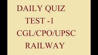DAILY QUIZ TEST PART -1