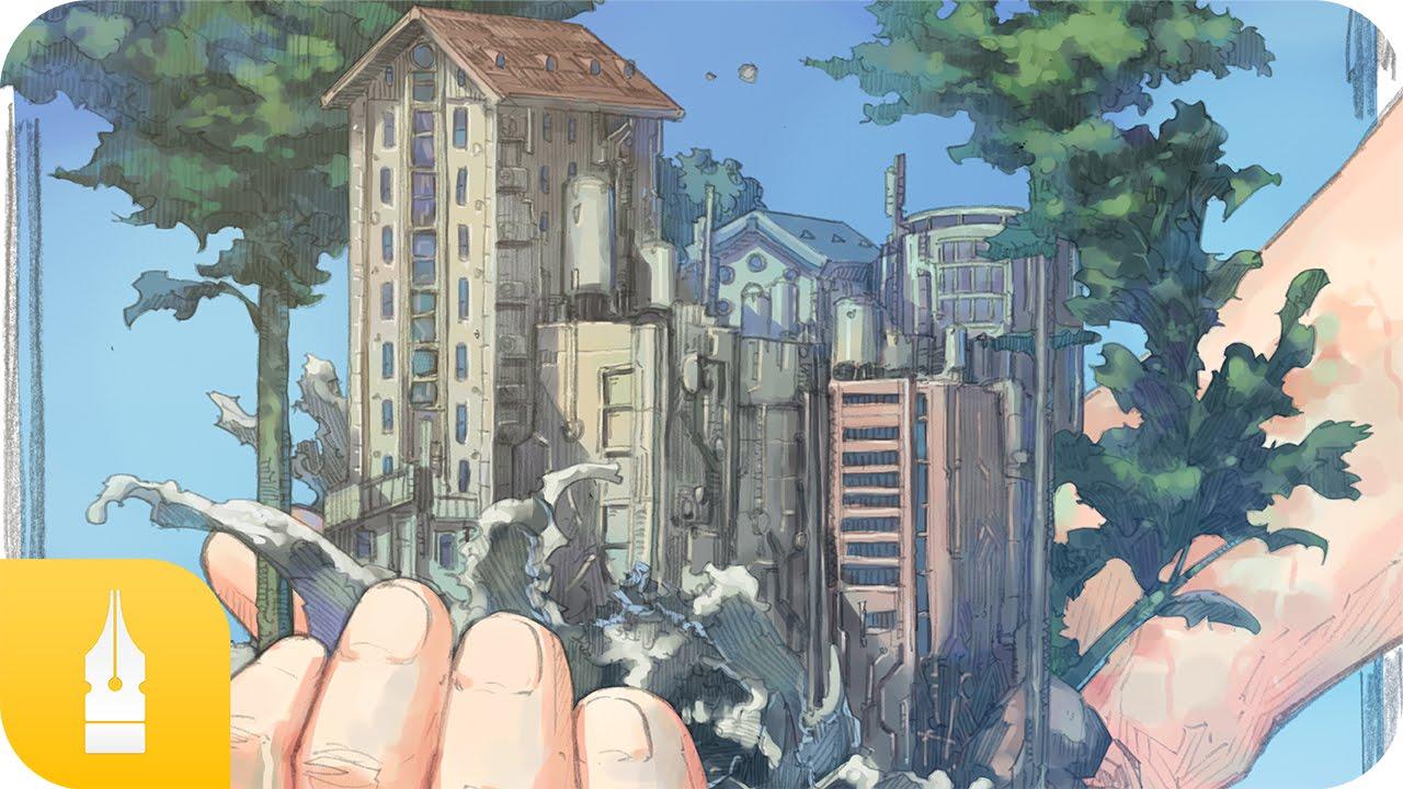 サイバーパンク風のポスターの塗り方講座 by meiz|マンガ・イラストの