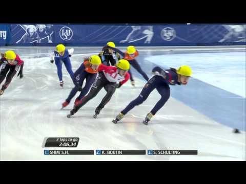 Kim Boutin / women`s 1500m Final + interview - ISU World Cup Short Track Speed Skating Montreal