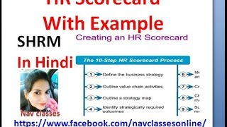 HR Scorecard with examples | SHRM in Hindi | Class 7