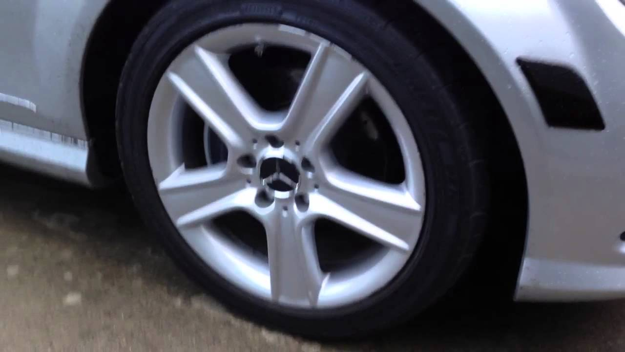 Mercedes c300 wheel center caps youtube for Mercedes benz wheel