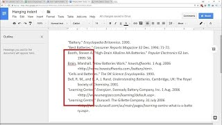 Google Docs - Hanġing Indent | Easy Built-In Menu Option