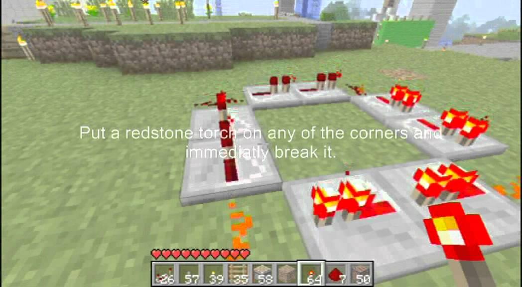 Minecraft Repeater Circuit Redstone Clock Circuits Minecraft 101