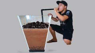 NTN - Thử Làm Cốc Trà Sữa Socola Khổng Lồ 100 Lít (Making Giant chocolate milk cup)
