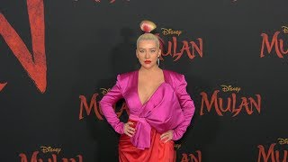 "Christina Aguilera ""Mulan"" World Premiere Red Carpet Fashion"