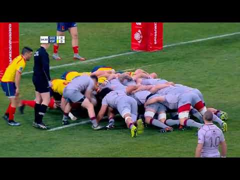 Rugby, Georgia - Spain,   RUGBY EUROPE CHAMPIONSHIP 2018