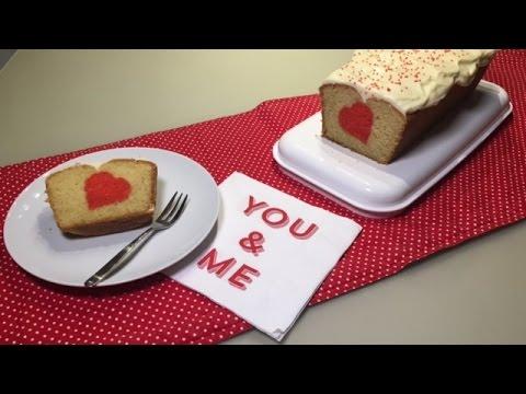 Herzlicher Uberraschungskuchen Zum Valentinstag Rezept Youtube