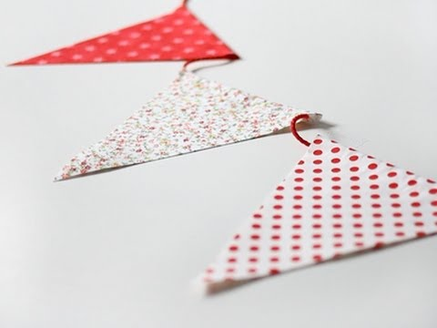 C mo hacer banderines de tela sin costuras youtube - Como hacer manualidades con tela ...