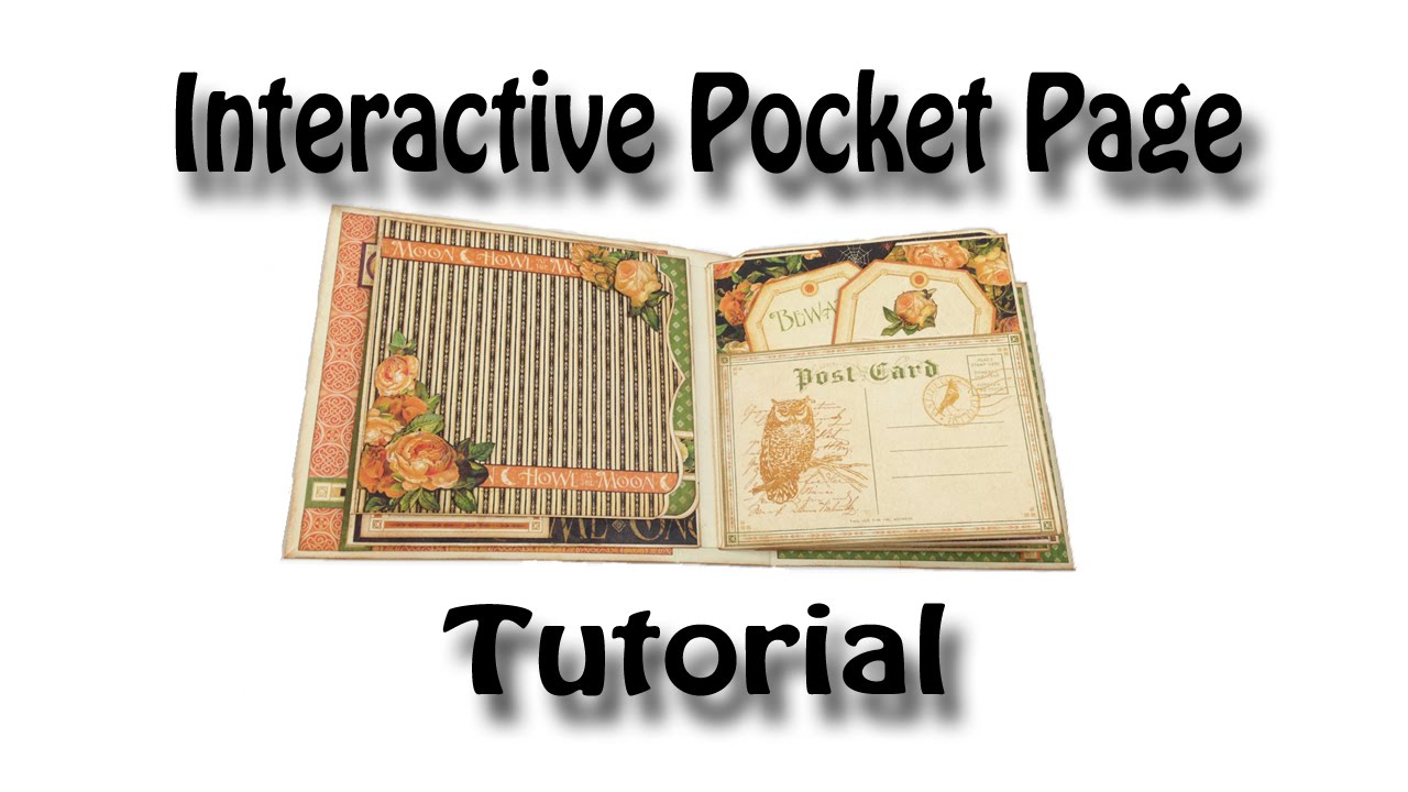 interactive pocket page tutorial used for my eerie tale romance novel mini albums