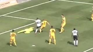 Назначение пенальти в матче «Иртыш» — «Кайрат»