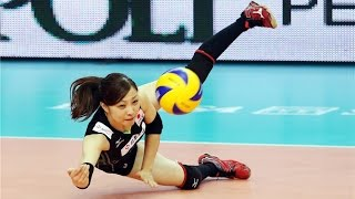 Attacks amazing  by libero Arisa Sato (JPN).