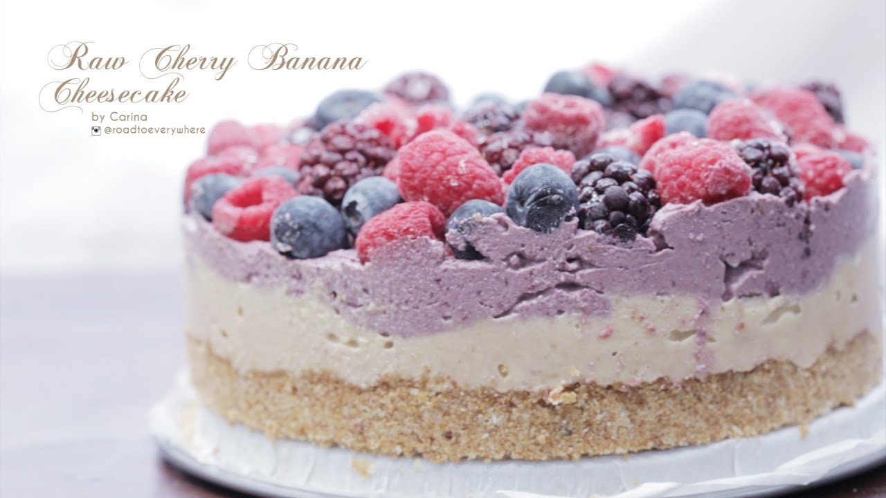 Cherry Cake And Cheesecake Layered