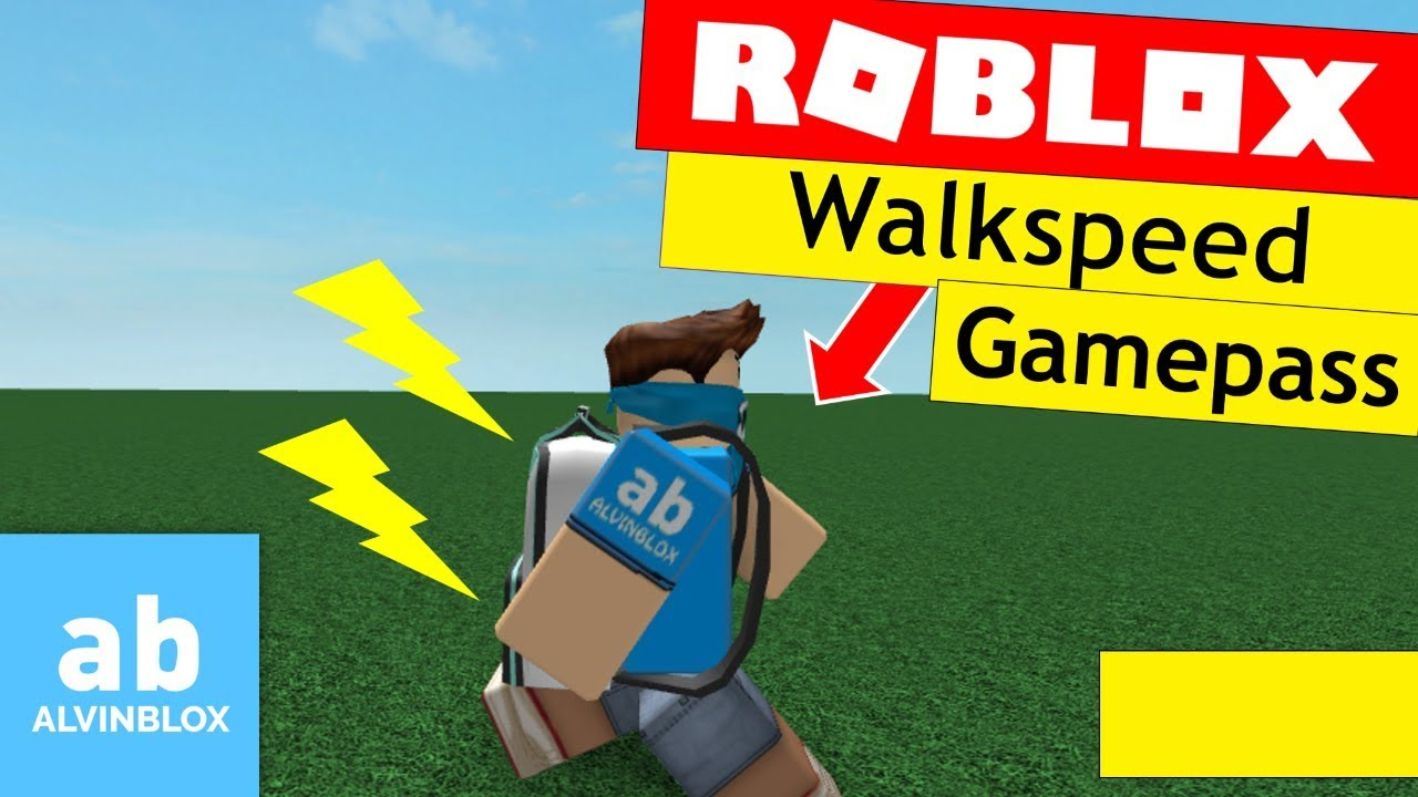 Roblox Walkspeed Gamepass Tutorial - Create a Speed Gamepass