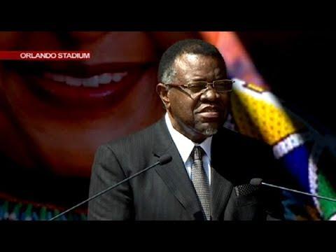 Namibia President Hage Geingob pays tribute to Mama Winnie