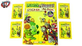 Plants vs Zombies Sticker Album Review & Pack Opening, Magic Box Int