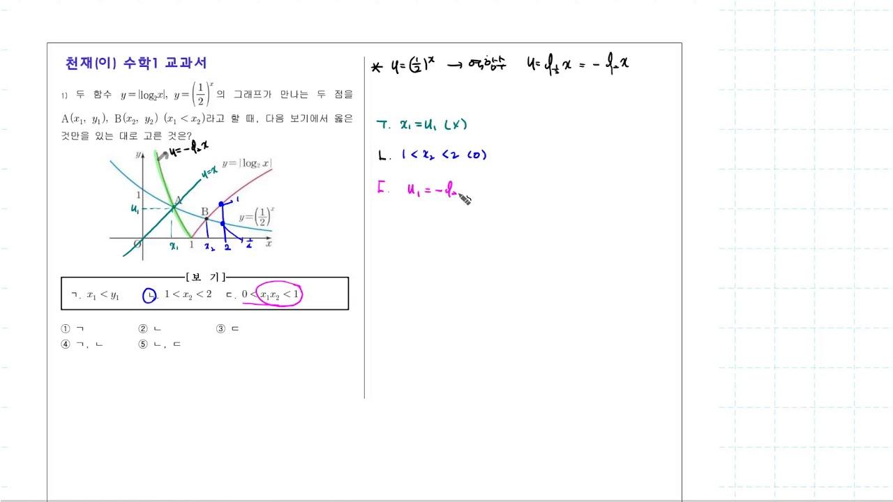 수학1 교과서문제 지수로그함수 - YouTube