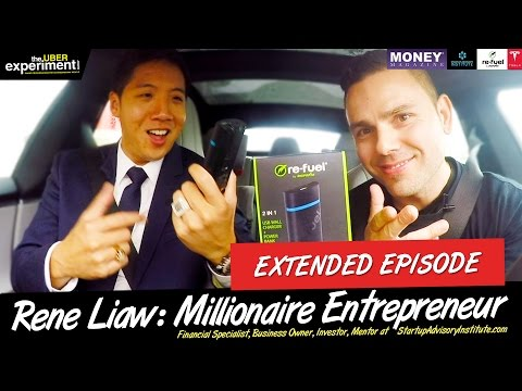 UBERING MILLIONAIRES at 200 km/h IN A TESLA - Full Episode: Rene Liaw Rides The Uber Experiment