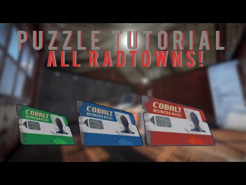 Rust Keycard Puzzle Tutorial with ALL Monuments!