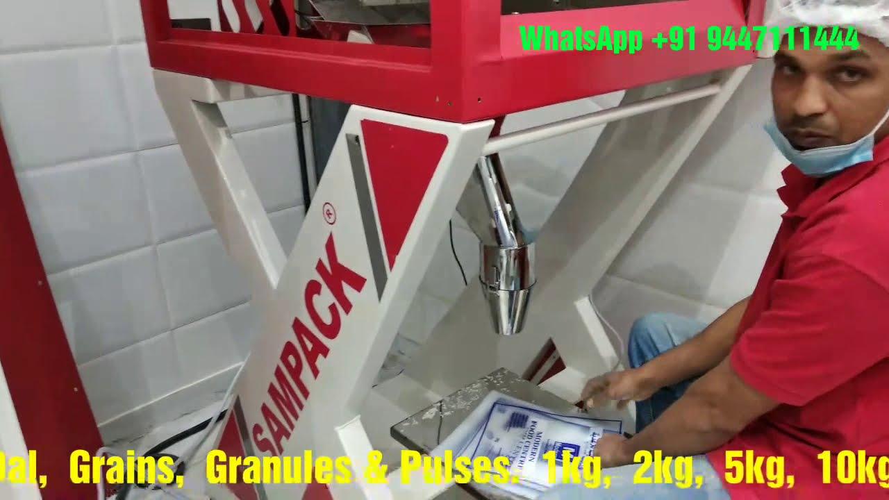 Download Rice, Sugar, Dal, Grains,Tea, Granules & Pulses Packing machine 1kg, 2Kg, 5Kg, 10Kg, 25Kg, 50Kg