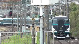 【ニゴナナ】14両編成の特急踊り子 湯河原駅入線 E257系2000番台&2500番台