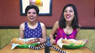 10,000 subs food eating challenge! SDA Market Subway| (Bloopers in the end)